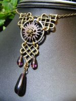 Articulated gears celtic necklace by BacktoEarthCreations