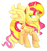 Princess Sunset Shimmer by Kaji-Tanii