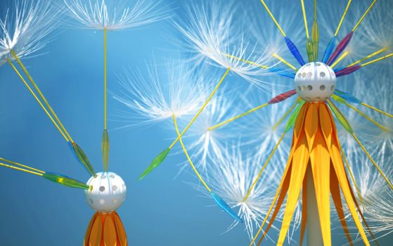 Dandelion seeds by k3-studio