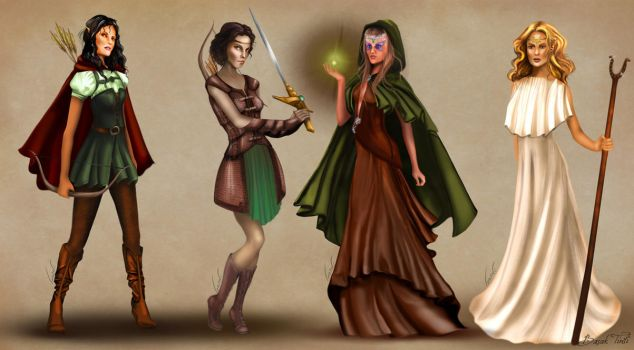Female Heroes of Rampart with full outfits by BasakTinli