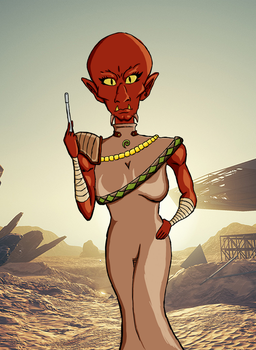 Kaleesh Woman (Request 1/3) by Omegadrive6500