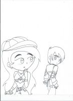 Zeikros and Julie's love first sight (uncolored) by XSreiki772