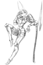 Armored Oni Girl by Hollen36