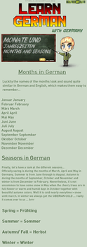 Learn German - Months and Seasons by TaNa-Jo