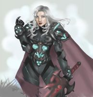 Moragaine the Death Knight by Ammosart