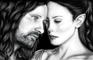Aragorn and Arwen by s-scattered