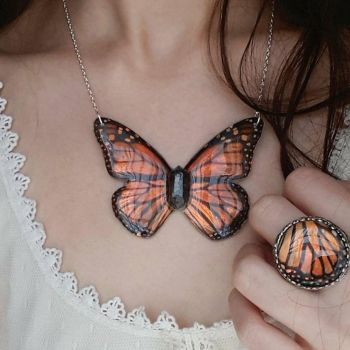 Monarch Wing Jewelry by KristenJarvisART
