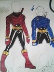 Kakuranger re-design suit by DynamicSavior