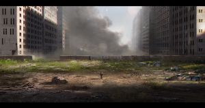 Zombie Abandoned city by VictorMosquera