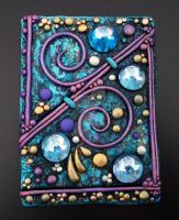 ACEO Blue and Purple Tapestry by MandarinMoon