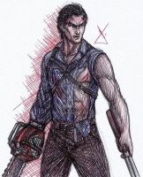 Ash J. Williams sketch by RodWolf