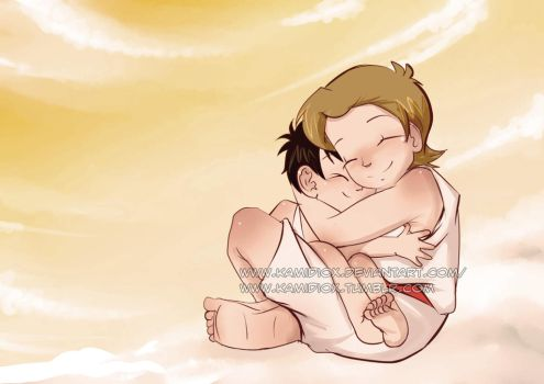 Wee!Gabe and wee!Cass by KamiDiox