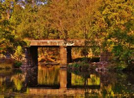 Autumn Railroad Bridge 2016 by Matthew-Beziat