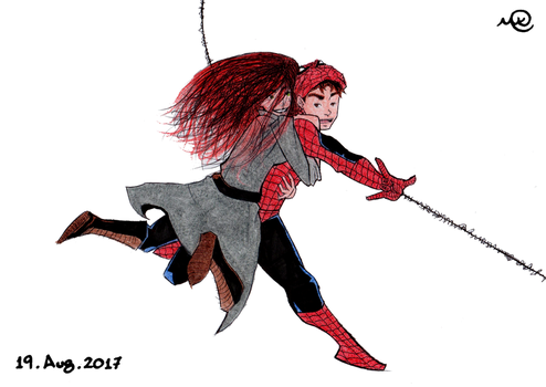 Spidy and Mary Jane (V2) by MaruanKaled