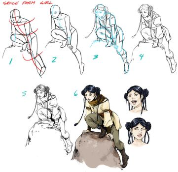 Character tutorial: Farm Girl by beanclam