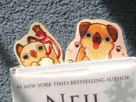 cat and dog bookmarks by michellescribbles