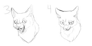 Cat YCH Headshots (Open) by CrazyCatBox
