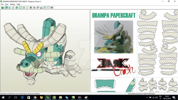 Drampa Papercraft by darcrash