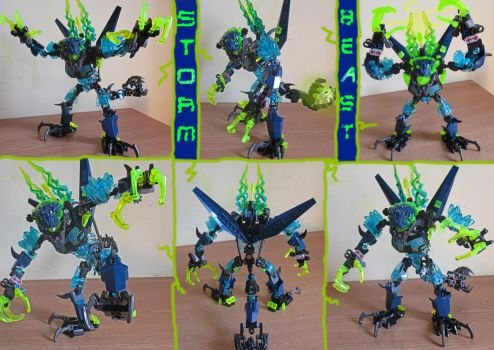 Bionicle G2 Revision:Storm Beast by Trimondius01