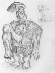 Suzie Black and Drull by Joxarn