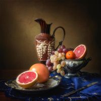 Still life with grapefruits by Daykiney