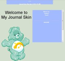 light blue care bear Free Journal Skin Animated by LiaxmmyArt
