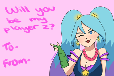 Be my player 2 - Arcade Sona by kittenlaurel