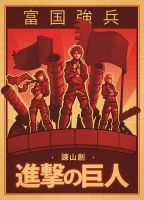 Attack on Titan Poster by JonEastwood