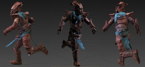 DREUGH ARMOUR RIG + SHADER TEST by Ravanna7