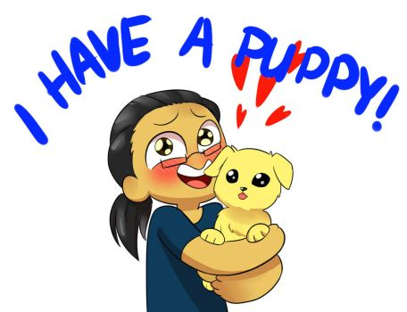 I Have A New Puppy!!! by RednBlackDevil