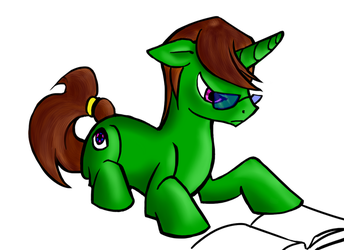 Coloured sketch drawn by someone else. by BronyQuest
