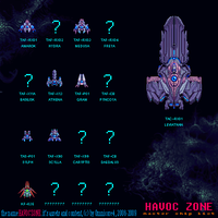 Havoc Zone - Ship Master List by Squirrelsquid