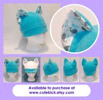 Tiny Whales Cat Hat by cutekick