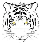 .:Tigre:. blanco by RikaChan3
