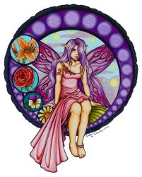 Stained Glass Fairy Colored by EmilyCammisa