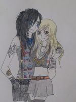 Andy Biersack and Juliet Simms IV by kittykatc666