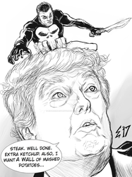 Punisher meets Trump at Mar A Lago by EdGreerDestroys