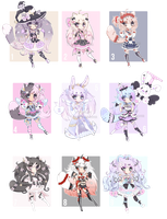 +Hunibi -Awkie Collab Adopts[ CLOSED](0/9) + by Hunibi