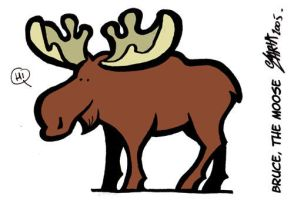 bruce, the moose by lllaria