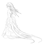 Pheasant Dress Sketch/Lineart by A-R-T-3-M-I-S