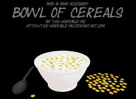 [MMD + M3 Accessory] Bowl of Cereals + DL by The-Horrible-Mu