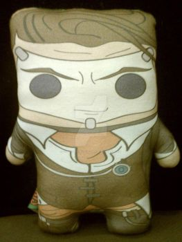 Handsome Jack inspired plushie by Cyber-Scribe-Screens