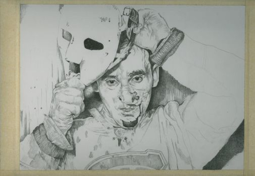 Jacques Plante ( hockey series) WIP3 by jeanfverreault