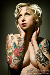Tattooed Mom I by DevillePhotography