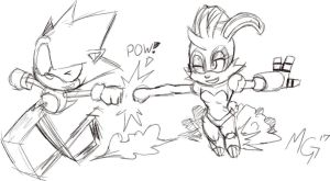 Sonic n Bunnie, buds for life. by Gx3RComics