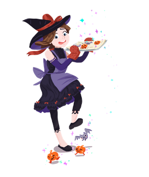 Merdith-the-scaredywitch-magicalsweets by amiima