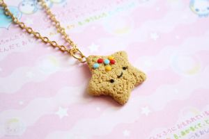 Star Cookie Miniature Polymer Clay food by kukishop