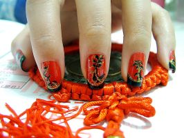 Nail Art - Chi-Pao III by bluenotes