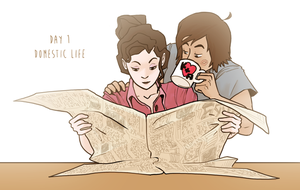 Korrasami week 2016 - Day 1: Domestic life by Phi8
