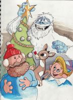 Rudolph and Gang Sketch by KileyBeecher